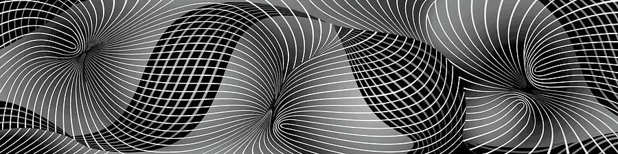 Space-time No-1, Black and White by David Arrigoni
