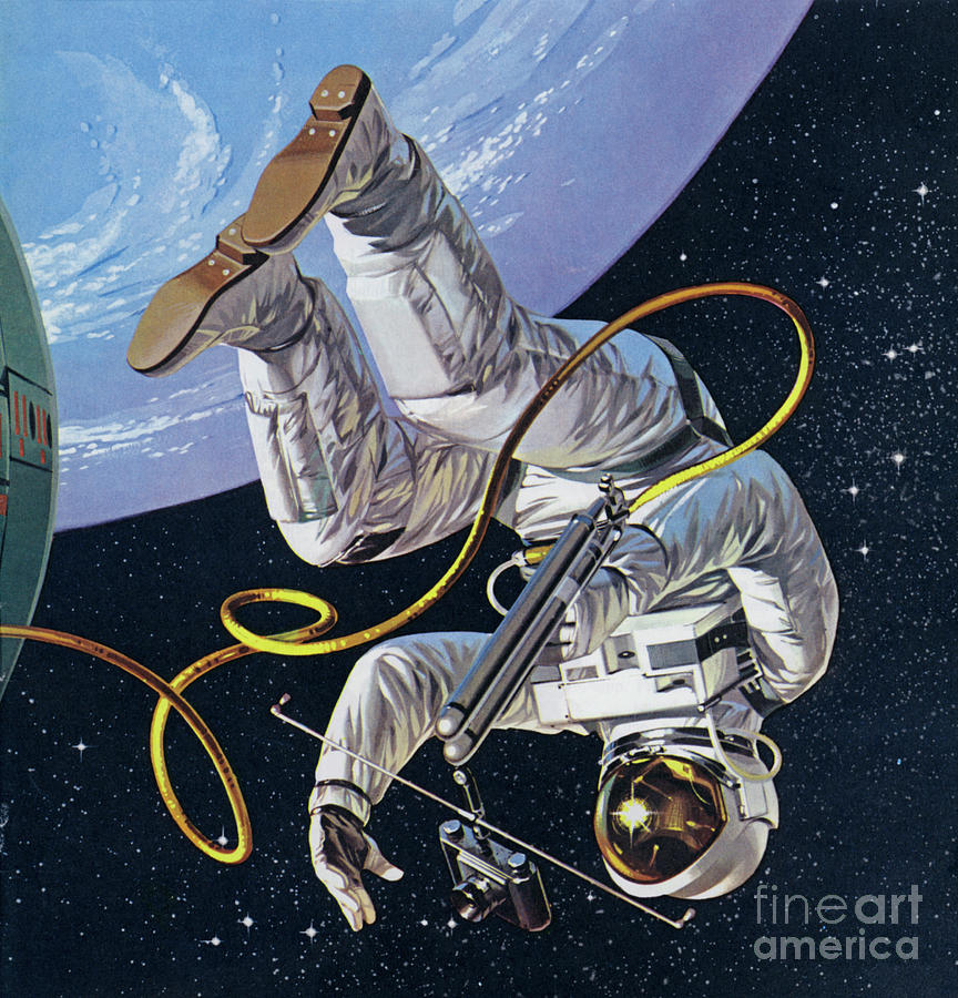 History Painting - Space Walk by Angus McBride