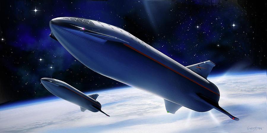 SpaceX- Liner Turanga Leela by James Vaughan