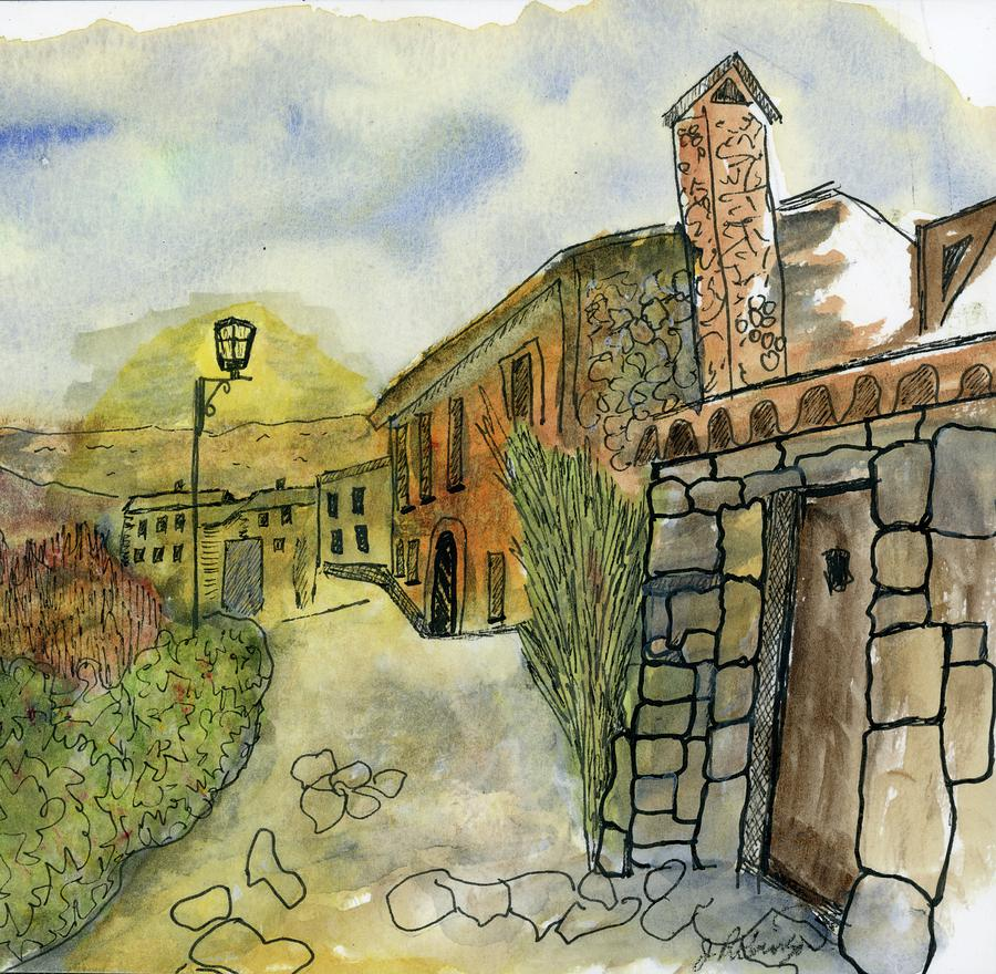 Spain Medieval Village by Judy Robinson