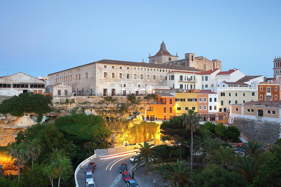Spain, Menorca, Mahon, View Of Old Town Photograph by Westend61