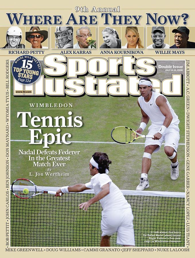 Spain Rafael Nadal And Switzerland Roger Federer, 2008 Sports Illustrated Cover Photograph by Sports Illustrated