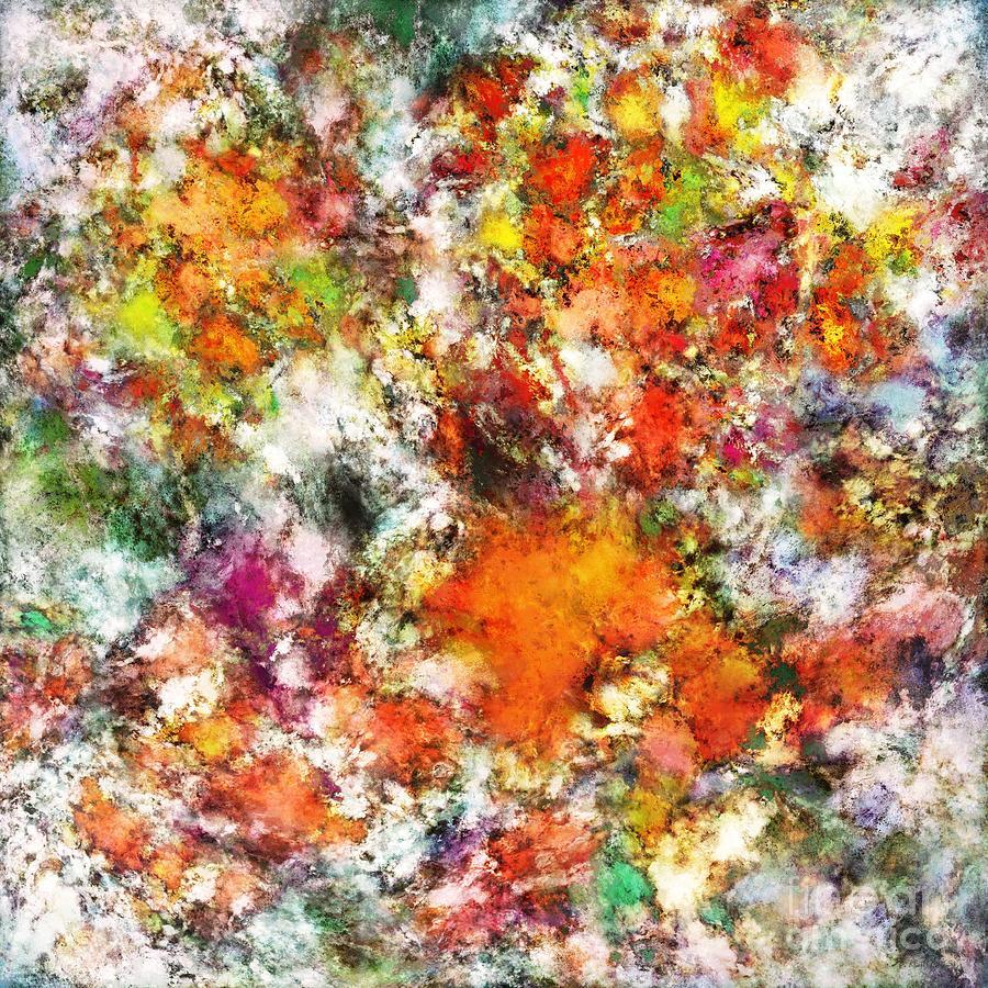 Brightly Digital Art - Spangle by Keith Mills
