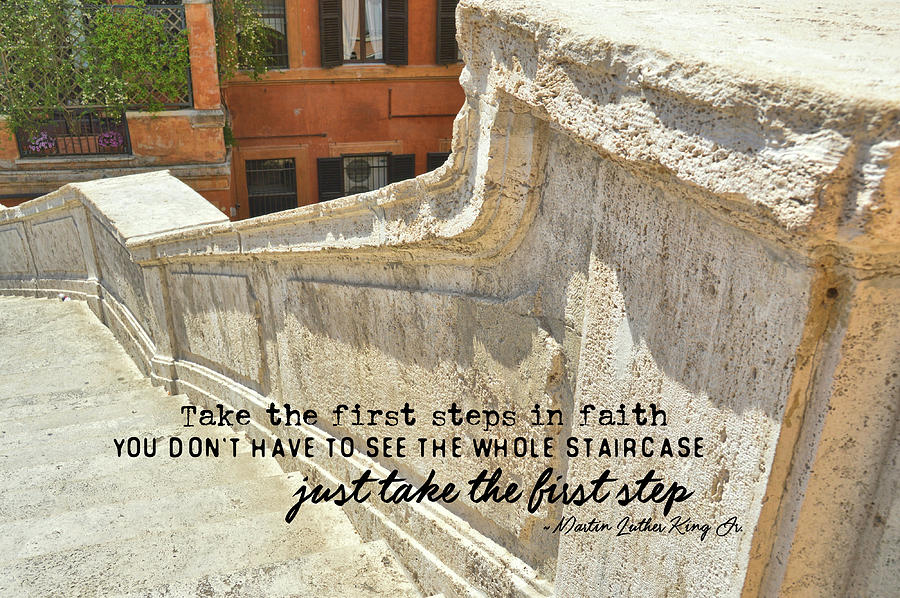 Spanish Steps Quote Photograph