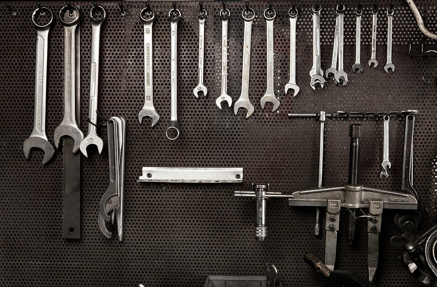 Spanners In Mechanical Industry Photograph by Ilbusca