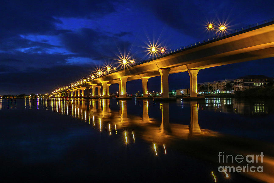 Sparkling Bridge Lights by Tom Claud