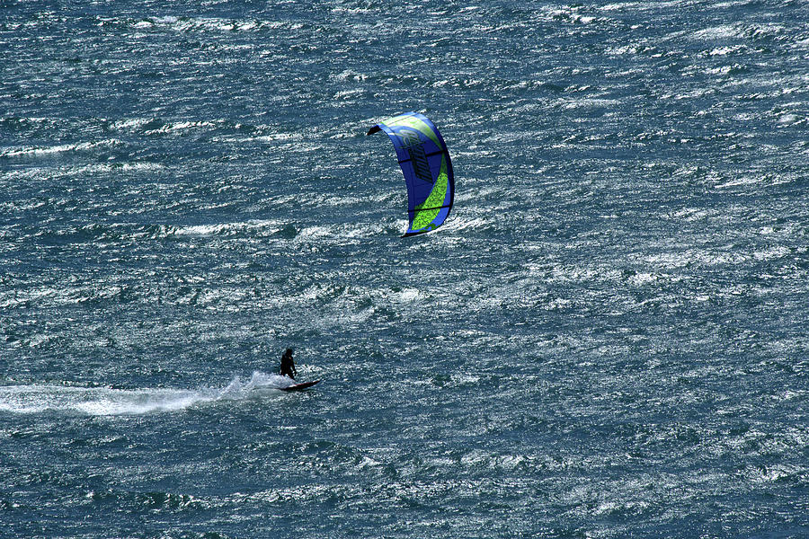 Sparkling Kite Surfers by Marie Leslie