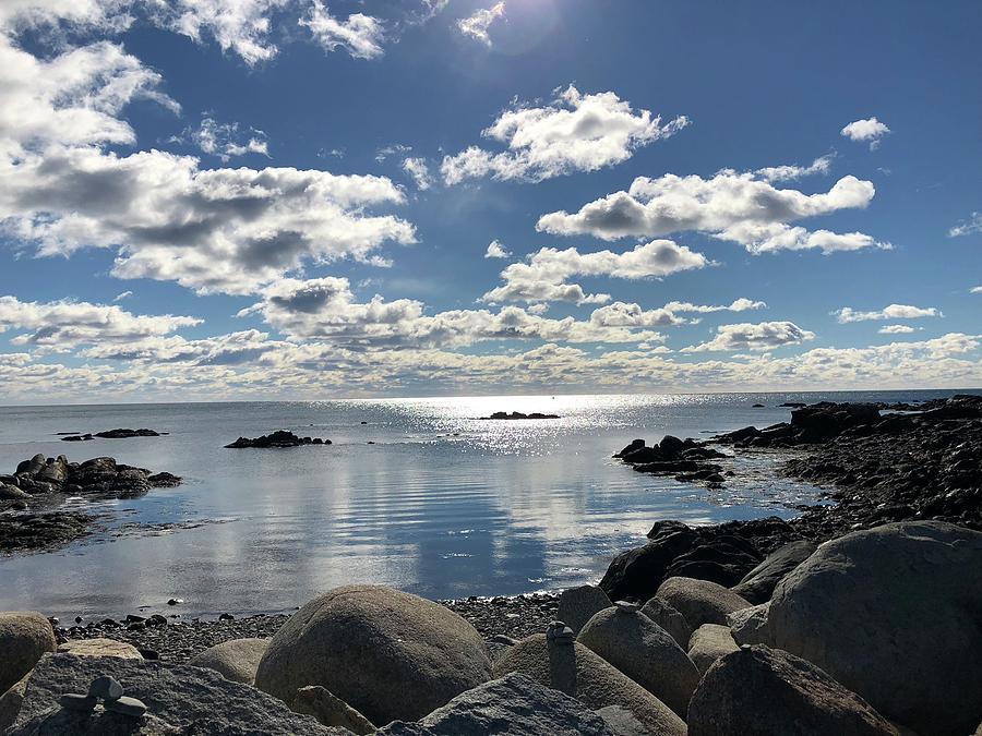 Ocean Photograph - Sparkling Morning by Lois Lepisto