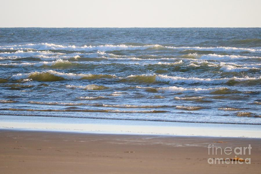 Sparkling Waves with Beach by Carol Groenen