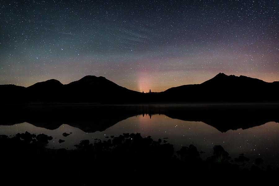 Sparks Lake Aurora by Cat Connor