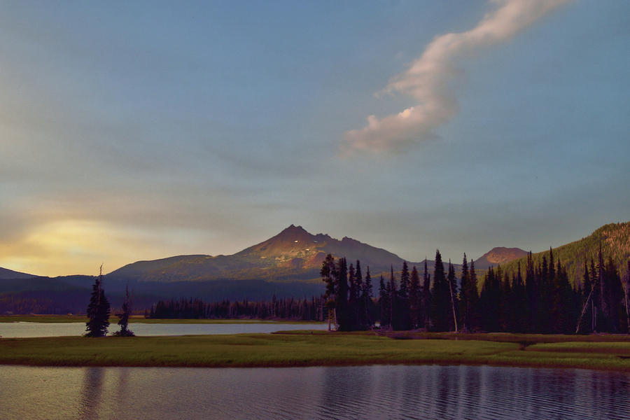 Sparks Lake in Oregon backdropped by Broken Top Mountain by SCENIC EDGE PHOTOGRAPHY