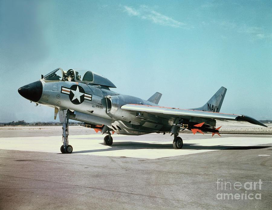 Sparrow I Missiles On Navy Jet Photograph by Bettmann