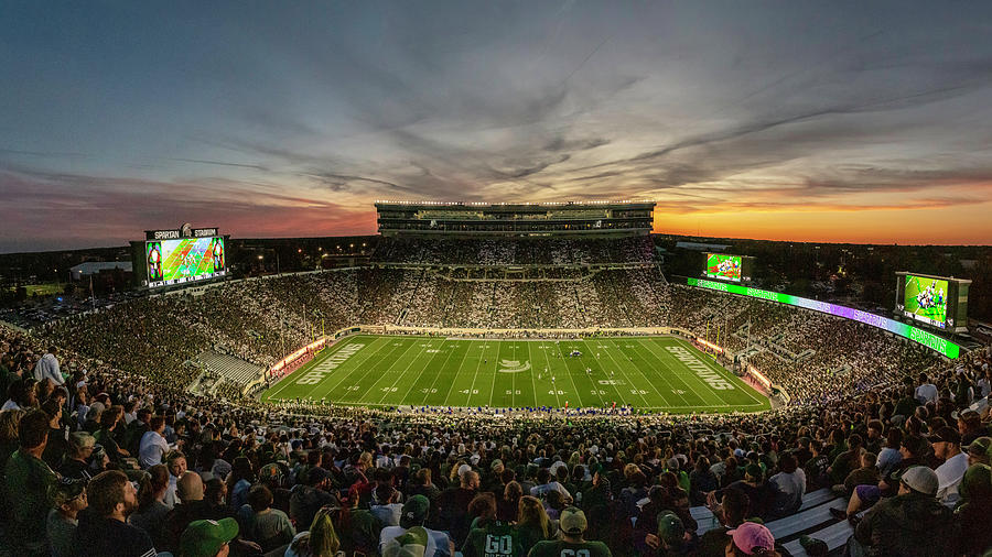 Spartan Stadium at Sunset  by John McGraw