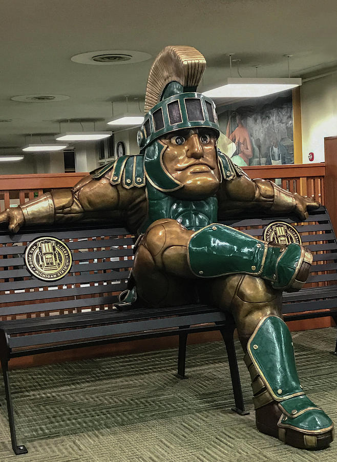 Msu Photograph - Sparty At Rest by Joseph Yarbrough