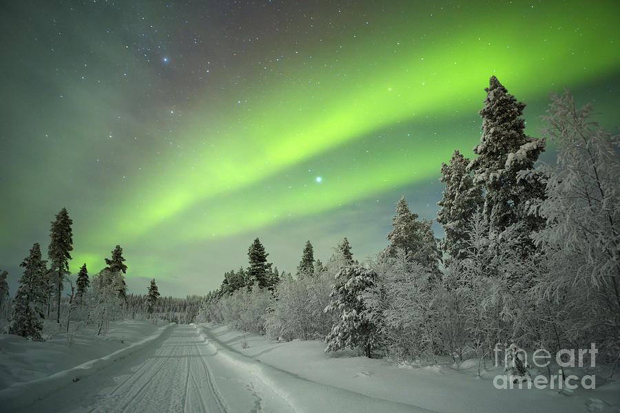 Lapland Photograph - Spectacular Aurora Borealis Northern by Sara Winter