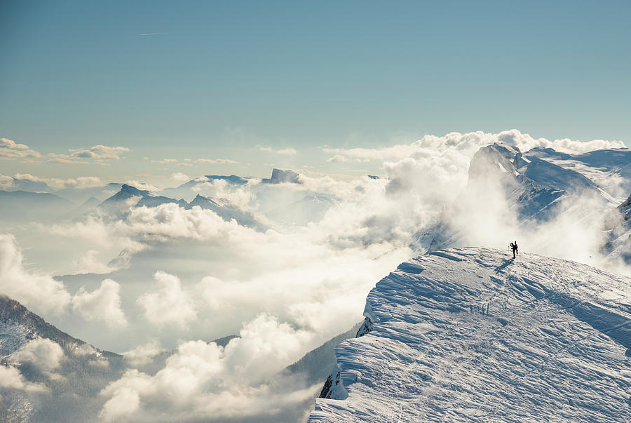 Spectacular Mountain Landscape In Winter Photograph by Marco Maccarini
