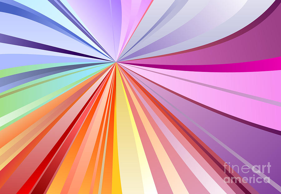 Exploding Digital Art - Spectrum Background by Osov