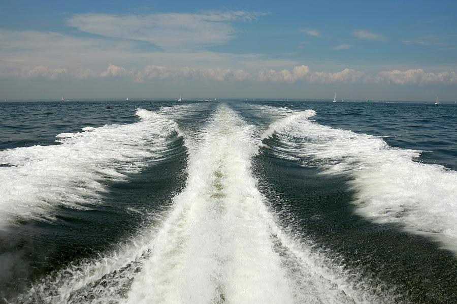 Speed Boat Wake Photograph by Ishootphotosllc