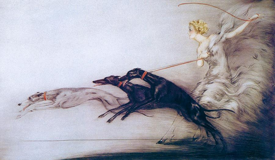 Louis Icart Painting - Speed - Digital Remastered Edition by Louis Icart
