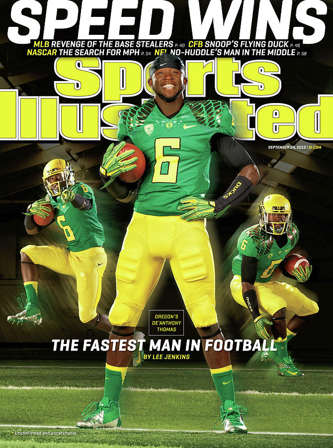 Speed Wins Oregons Deanthony Thomas, The Fastest Man In Sports Illustrated Cover Photograph by Sports Illustrated