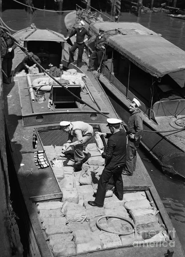 Speedboat Seized With 2,000 Bottels Rum Photograph by Bettmann