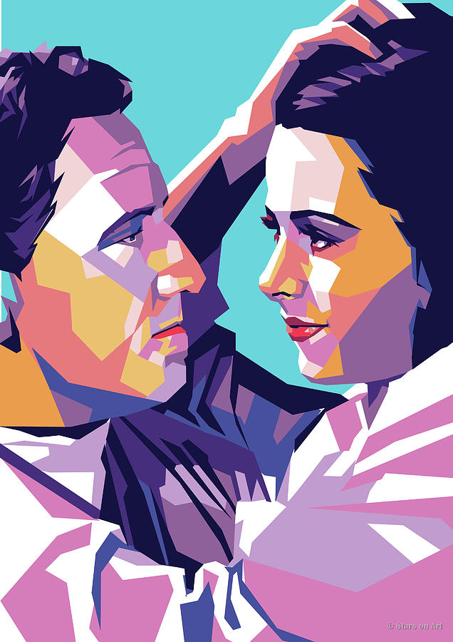 Spencer Tracy And Hedy Lamarr Digital Art