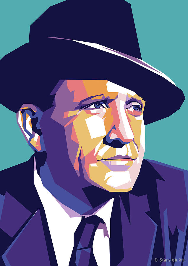 Spencer Tracy Illustration Digital Art