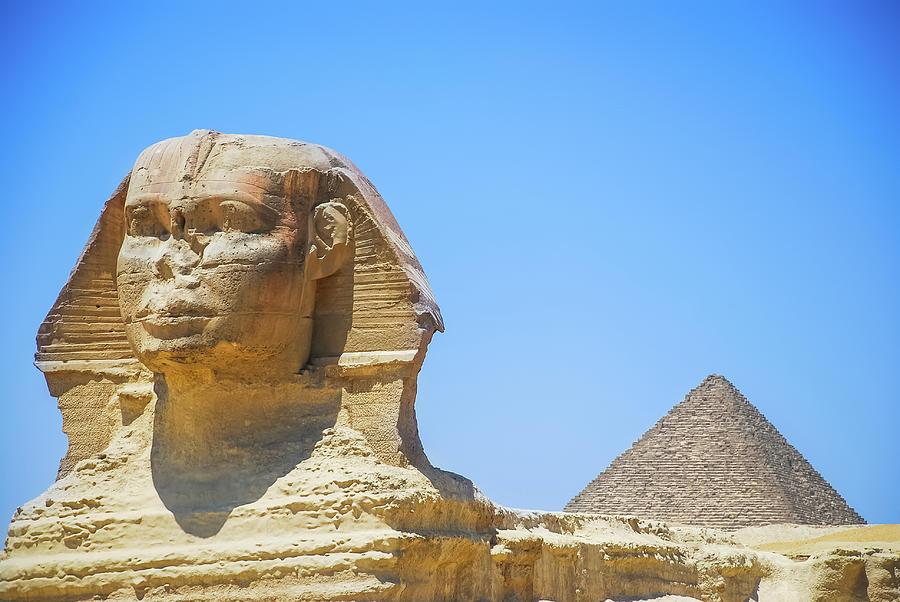 Sphinx And Pyramid Photograph by © Razvan Ciuca