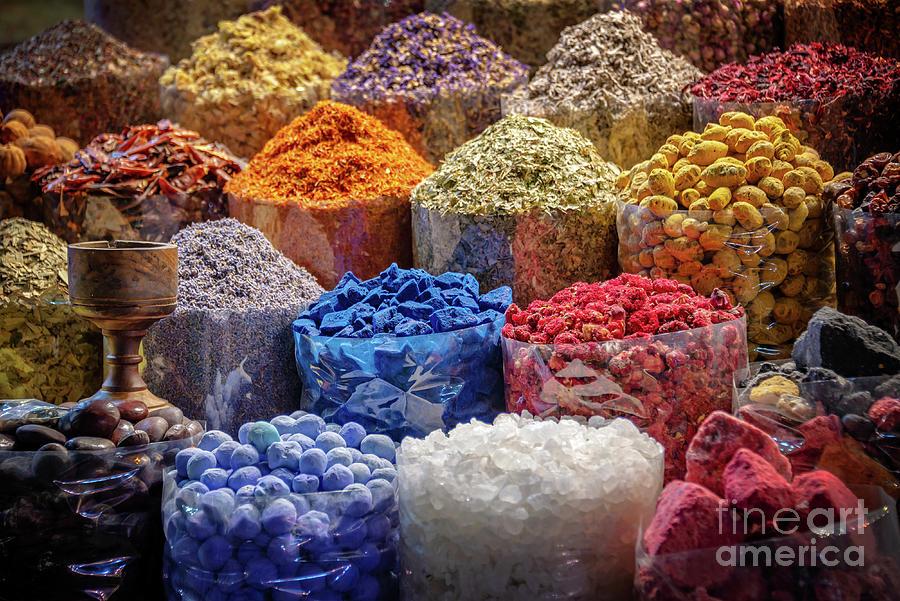 Spices Photograph - Spices Souk In Dubai by Delphimages Photo Creations