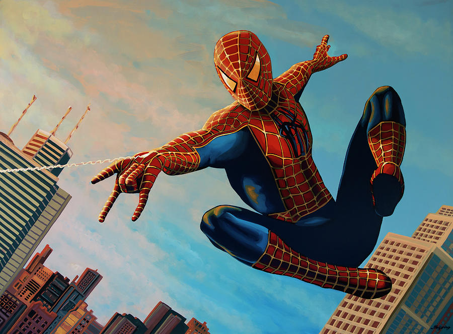 Spiderman 3 Painting  by Paul Meijering
