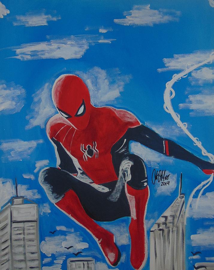 Spidey Swinging by Antonio Moore
