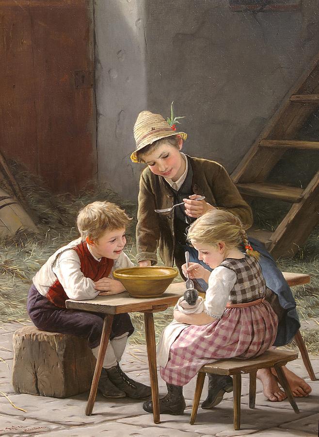 Spielende Kinder by Gustav Igler