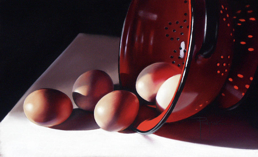 Eggs Pastel - Spill of Eggs by Dianna Ponting