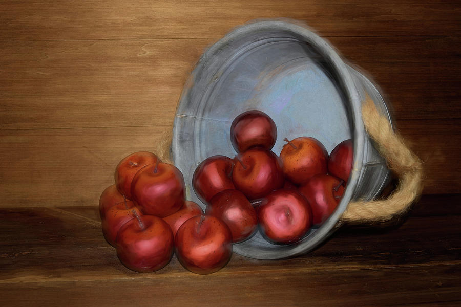 Spilled Apples by Pamela Walton