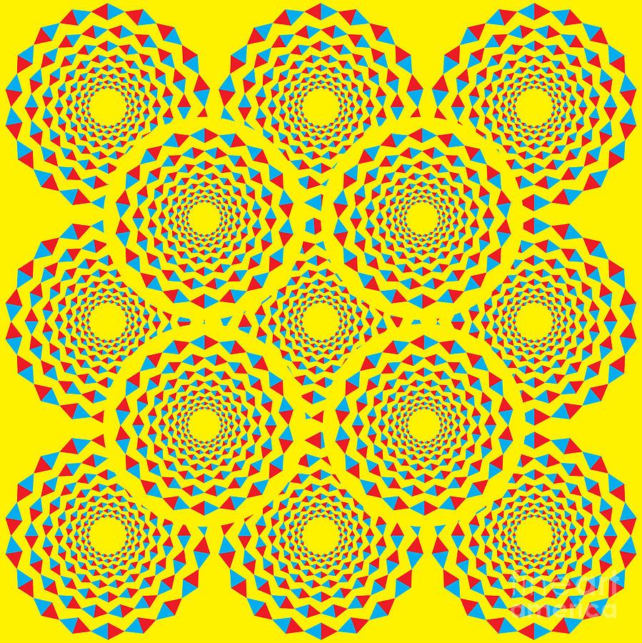Rotate Digital Art - Spin Diamonds by Mark Grenier