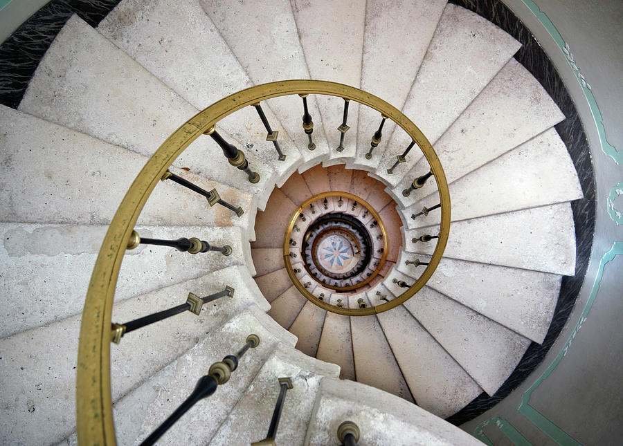 Spiral Staircase Photograph by Fotofrog