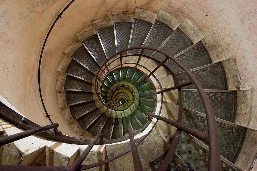 Spiral Staircase In The Arc De Photograph by Mint Images/ Art Wolfe