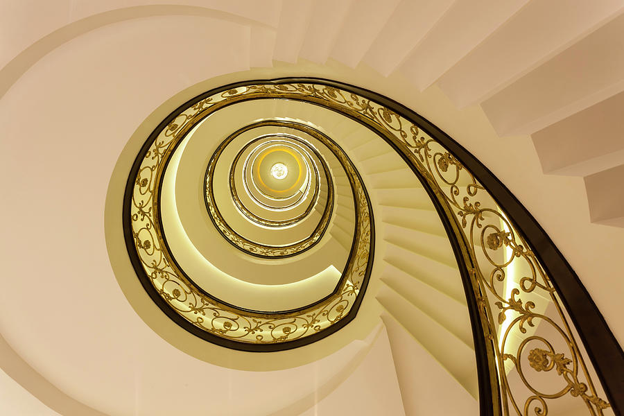 Spiral Staircase, India Photograph by Peter Adams