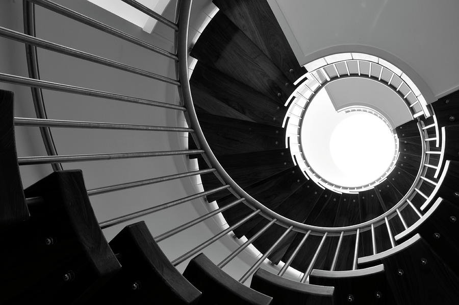 Spiral Staircase, Jersey Photograph by Alan lagadu