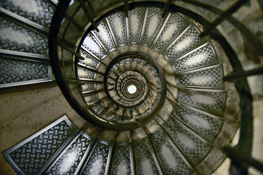 Spiral Staircase Of The  Arc De Photograph by Jjr