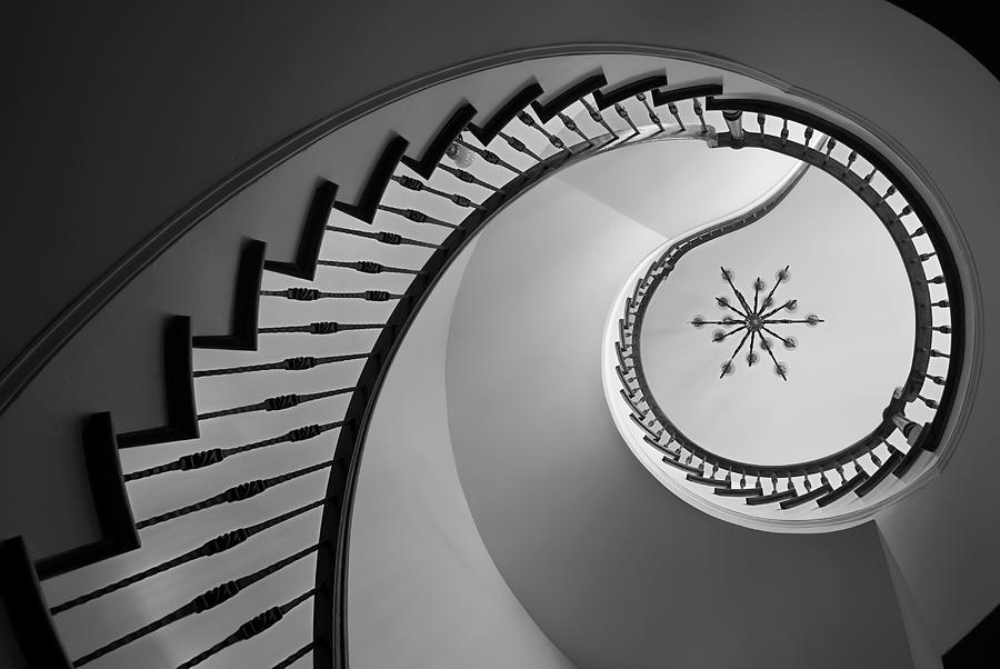 Spiral Staircase Photograph by Rudisill
