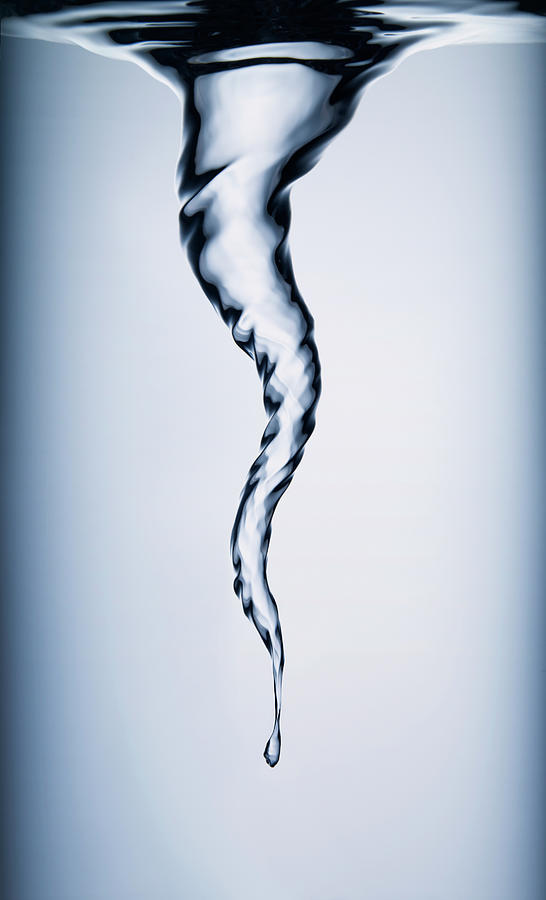 Spiral Vortex In Water Photograph by Biwa Studio