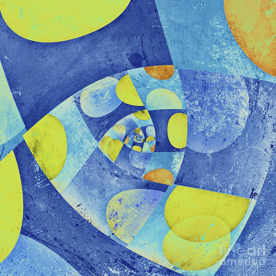 Abstract Digital Art - Spirali - 01c22b by Variance Collections