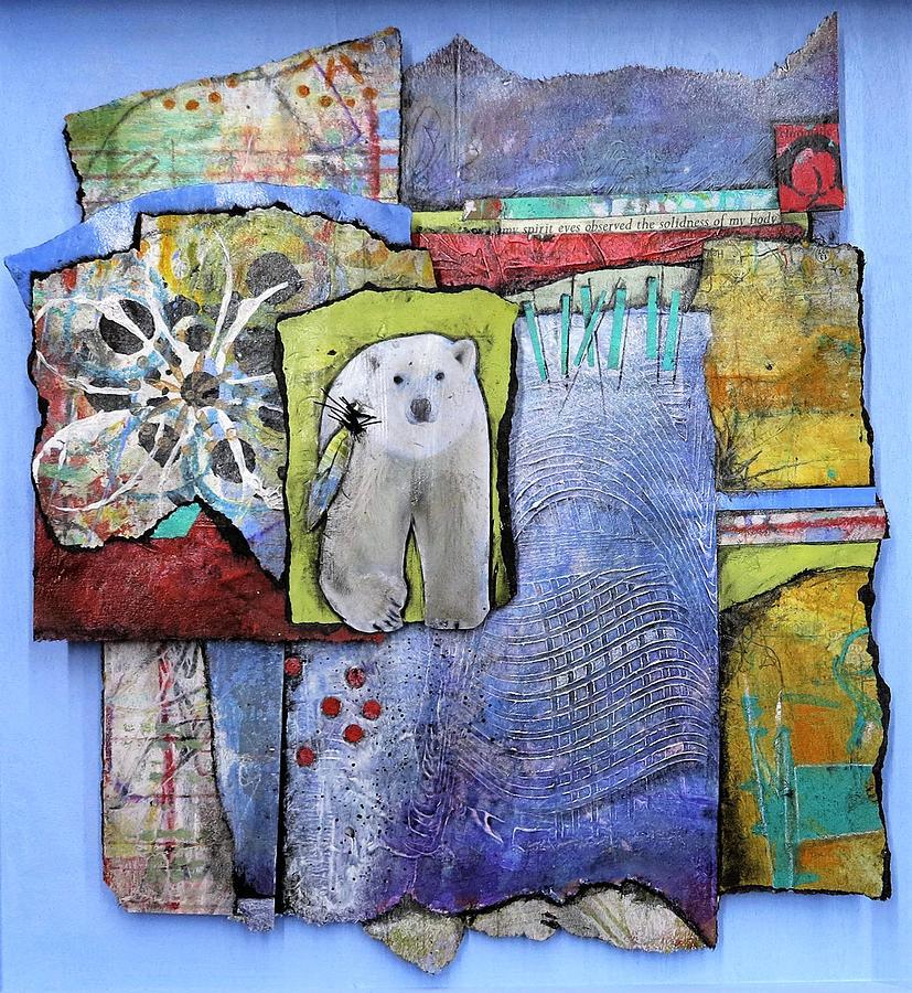 Collage Mixed Media - Spirit Bear by Laura Lein-Svencner
