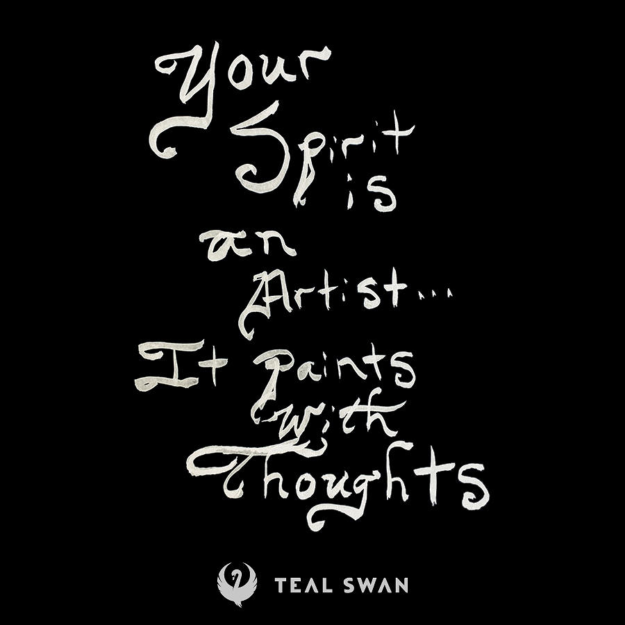 Spirit Is An Artist Quote by Teal Eye Print Store