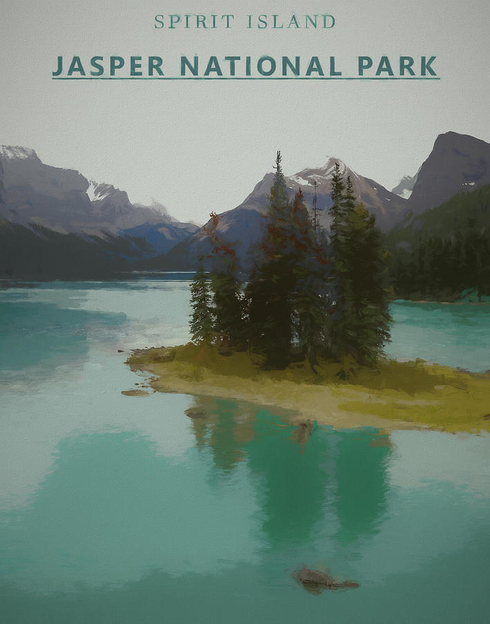 Spirit Island Park Poster by Dan Sproul