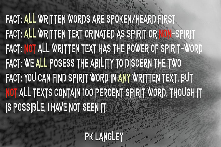 Religion Digital Art - Spirit Word by PK Langley
