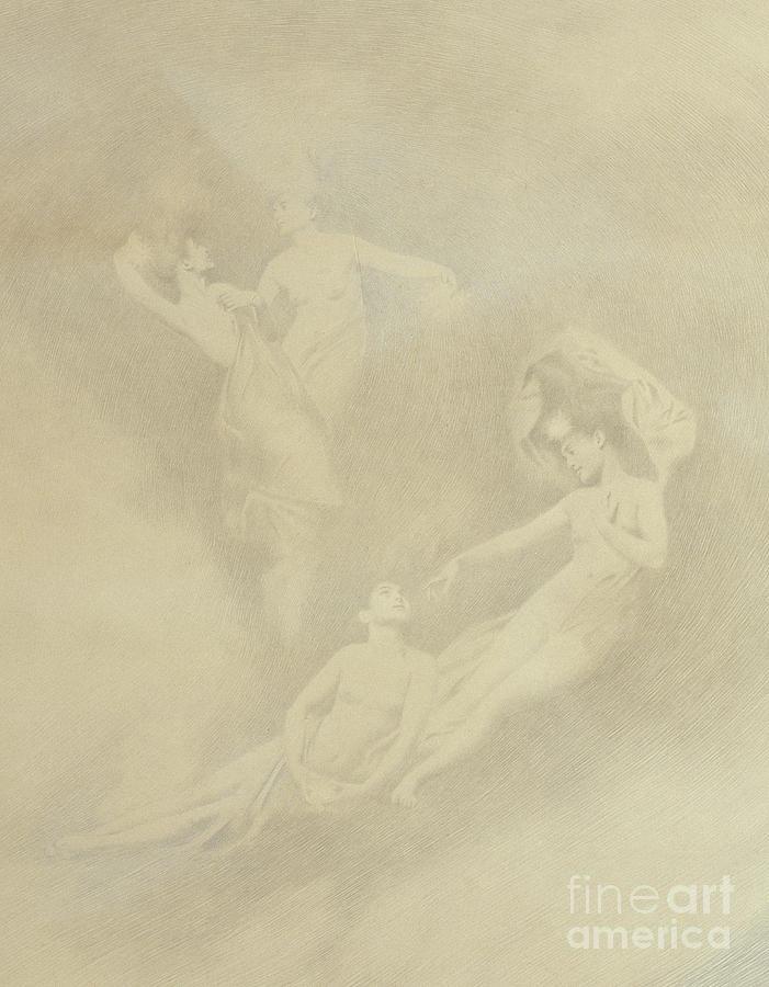 Spirit Drawing - Spirits In The Mist  by Charles Prosper Sainton