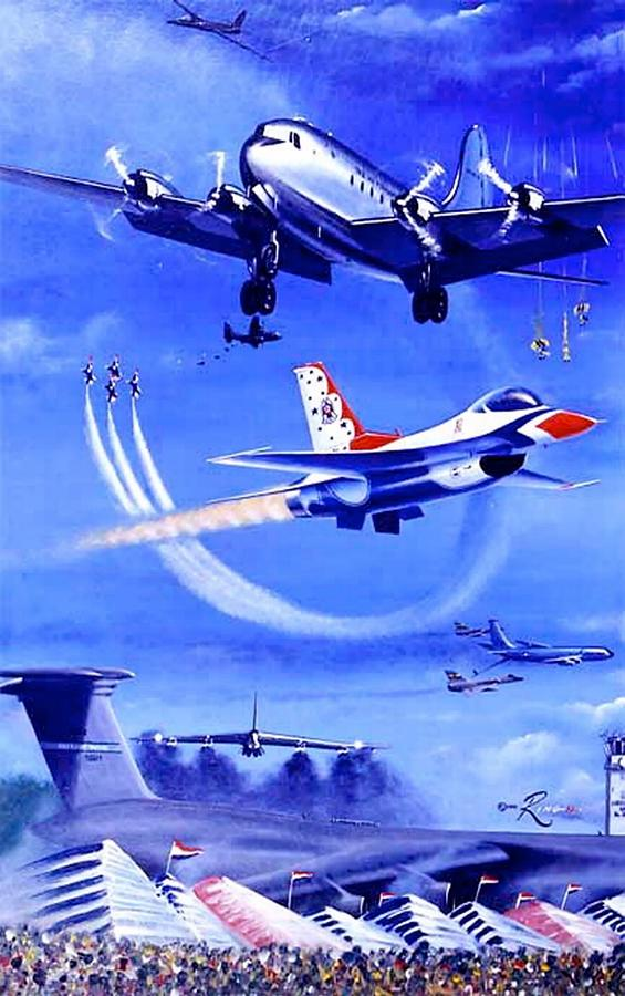 Dc-6 Painting - Spirits Uplifted by Peter Ring Sr