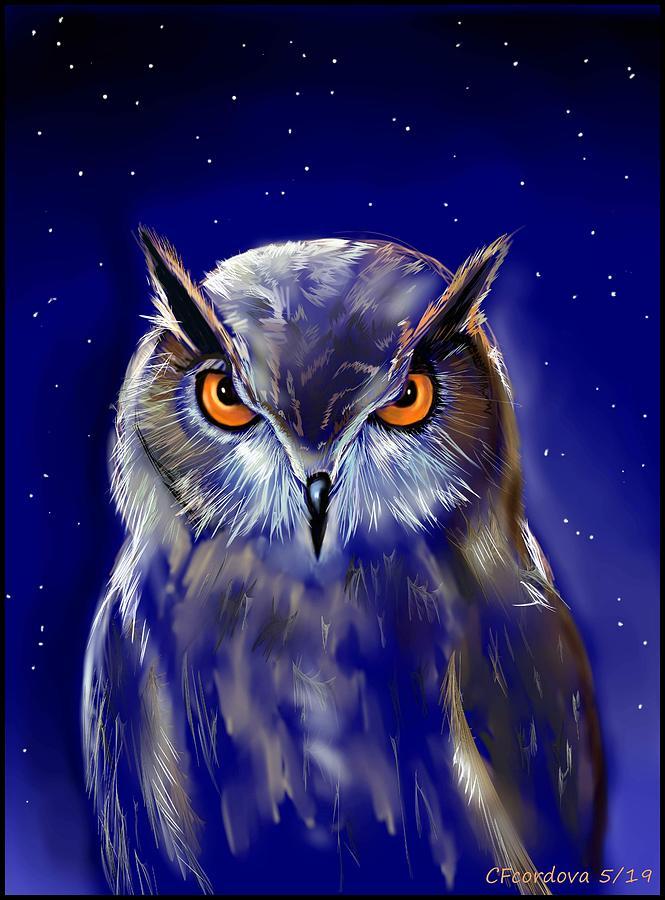 Spiritual Owl by Carmen Cordova